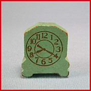 """Strombecker Dollhouse Bedroom Table Clock – Green 1936 3/4"""" Scale"""