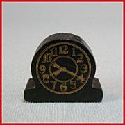 "Strombecker Dollhouse Modern Table Clock – Black 1938 3/4"" Scale"