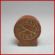 "Strombecker Dollhouse Bedroom Table Clock – Walnut Mid 1940s 3/4"" Scale"