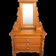 "SALE Antique German Schneegas Dollhouse Dresser with Swivel Mirror Late Victorian Large 1"""
