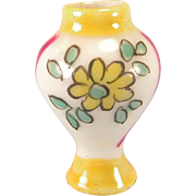 "REDUCED French Porcelain Dollhouse Urn Shaped Vase 1920s – 1930s Small 1"" Scale"