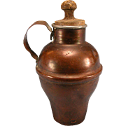 Antique German Copper Jug with Wooden Stopper 1880s – 1900s Doll Size