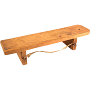 """Very Rare Antique German Dollhouse Wooden Knife Sharpening Board 1880s – 1900s Large 1"""""""