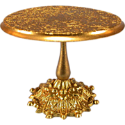 SALE Antique German Dollhouse Ormolu Round Pedestal Table by Erhard and Son Late 1800s Small .
