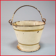 REDUCED Antique German Sheet Metal Marklin Bucket or Pail 1900s Doll Size