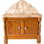 """Antique German Dollhouse Schneegas Marble Top Washstand Late 1800s 1"""" Scale"""