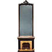 REDUCED Antique German Dollhouse Rock and Graner Fireplace with Overmantel from the Rothenburg