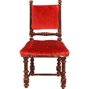 REDUCED Antique German Dollhouse Rock and Graner Side Chair from the Rothenburg Toy Museum ...