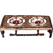 Tynietoy Doll House Miniature Cast Metal Two Burner Hot Plate by Gerlach 1920s - 1930s Large .