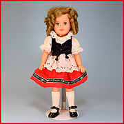 """15"""" Ideal Vinyl Shirley Temple Doll Heidi Outfit"""