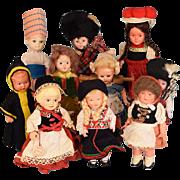 "6"" to 7"" International Souvenir Dolls - Group of 10 Dolls 1950s - 1960s"