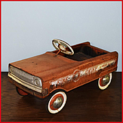 Western Flyer Fire Chief Pedal Car Pressed Steel 1960s
