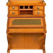 """Antique German Dollhouse Davenport Desk by Schneegas with Provenance – Late 1800s Large 1"""""""