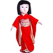 "Japanese Ichimatsu gofun girl play doll  16"" Japan TLC"