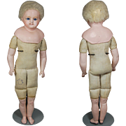 Cuno Otto Dressel German paper mache doll Holz-Masse signed body & shoulderhead  Wasch echt 16