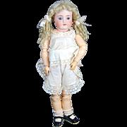 SALE PENDING Antique Simon Halbig bisque doll to dress Handwerck body plus long curly blonde m