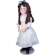 Flirty eye German bisque head doll AM 390n  25""