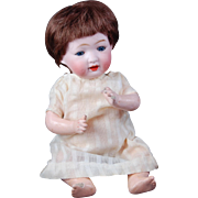 Japanese character bisque baby Morimura Brothers cabinet size 10 inch