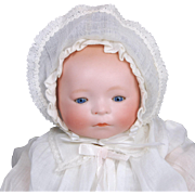 SALE Amberg New Born Babe bisque head baby doll  L A & S working crier good ...