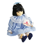 14 inch Ling Ling in blue dress Chinese child Dolls by Pauline mint no box ...