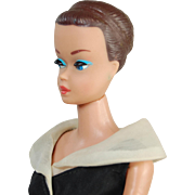 Vintage Fashion Queen Barbie After Five dress brown painted hair no wig 1964 patented body ...