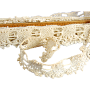 Vintage crocheted lace edging insertion lace 5.4 yards