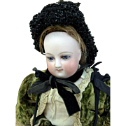 "Antique Bru French Fashion doll 13"" round face swivel head kid body original clothes ..."