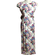 SALE Circa 1980s Made For Memories Misty Lane Lavender Floral Dress
