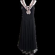 SALE Circa 1950s Nathan Strong Basque Bodice Evening Dress