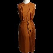 SALE Circa 1950s/Early 1960s Bergdorf Goodman Silk Tie Dress - Never Worn
