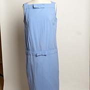 SALE Circa 1970s Jonathan Logan Periwinkle Blue Day Dress
