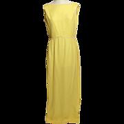 SALE Circa 1960s Stephen O'Grady Yellow Chiffon Gown