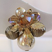 Vendome Gold-Tone Crystal and Glass Beads