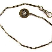 SALE 14K Yellow Gold Pharaoh/Sword Watch Chain