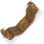 SALE Victorian Gold-Filled Engraved Chain Bracelet