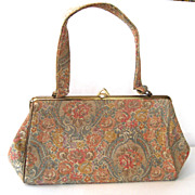 SALE Pastel Floral Tapestry Purse/Handbag