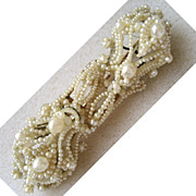 SALE Victorian 14K Seed Pearl Floral Bar Pin