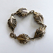 SALE Danecraft Sterling Silver Shell Bracelet