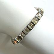 SALE Art Deco Rhinestone Line Bracelet