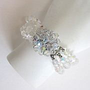 SALE Triple-Strand Crystal Bead Bracelet