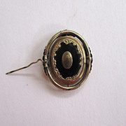 SALE Victorian Enamel Swivel Hair Brooch/Pin