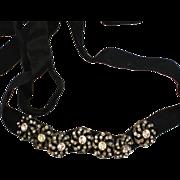 SALE Floral Rhinestone Slide Dog Collar Choker