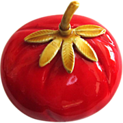 SALE Original By Robert Enamel Tomato Brooch/Pin