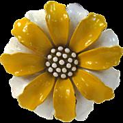 SALE Circa 1960s Trifari Yellow and Cream Floral Earrings