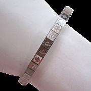 SALE Art Deco Simmons White Gold-Filled Mesh Bracelet