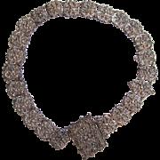 SALE Victorian Silver-tone Metal Belt