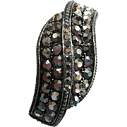 SALE Weiss Marcasite Crossover Bangle Bracelet