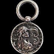 SALE Art Nouveau Sterling Silver Lady Chatelaine Piece