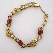 Mark VII Gold-Filled Cultured Pearl and Wood Acorn Bracelet