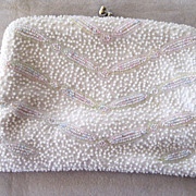 SALE Magid Cream and Pastel Beaded Handbag